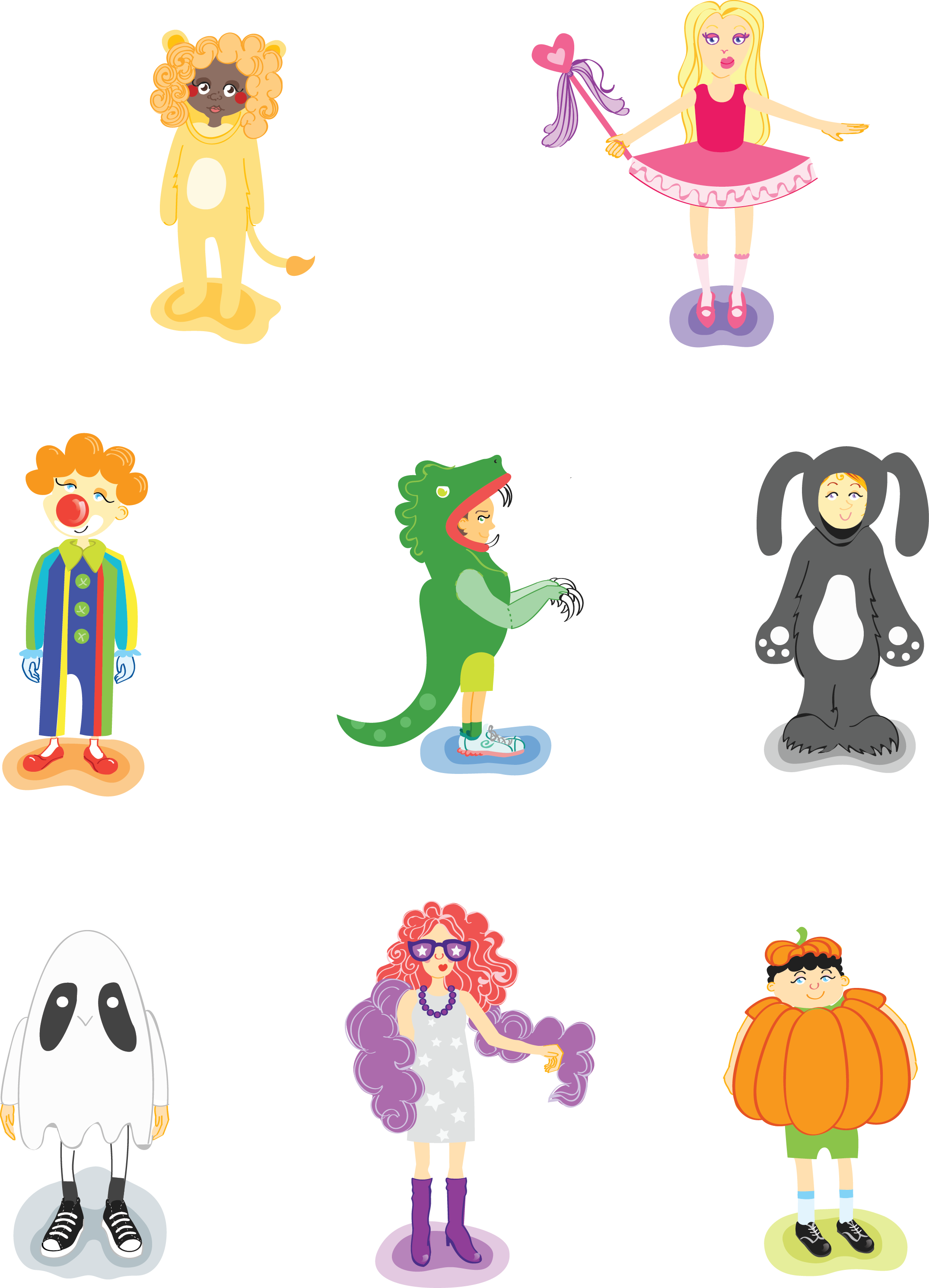 i made kids in their costumes for halloween - Halloween Images For Kids